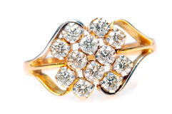 特写镜头金刚石珠宝环形 库存图片