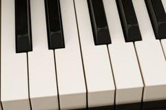 特写镜头钢琴 免版税库存照片