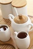 特写镜头集合茶 免版税图库摄影
