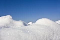 特写镜头雪 免版税库存图片