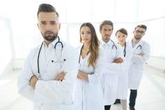 特写镜头 小组医护人员 免版税图库摄影