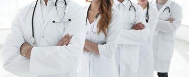 特写镜头 小组医护人员 图库摄影