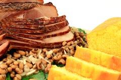 特写镜头传统南美新年膳食 免版税库存照片