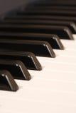 特写镜头关键董事会钢琴 库存照片