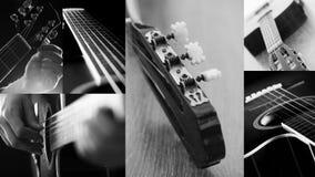 特写镜头吉他构造二木头 免版税图库摄影