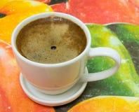 特写镜头咖啡杯查出的白色 库存图片