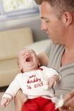 特写镜头哭泣的婴孩 图库摄影