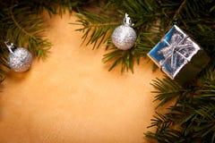特写镜头圣诞节框架细节 免版税库存图片
