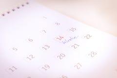 特写镜头在2月14日情人节 库存照片