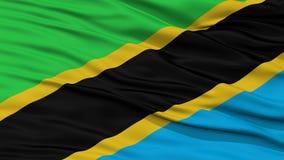 特写镜头坦桑尼亚旗子 免版税图库摄影