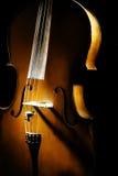 特写镜头大提琴 免版税库存图片