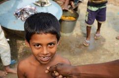 特写镜头孟加拉国人孩子 免版税库存图片