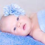 特写镜头婴孩画象 库存照片