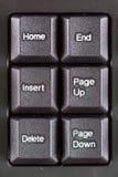 特写镜头宏观黑未使用的个人计算机键盘键 免版税库存图片