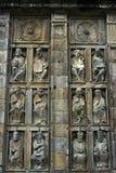 特写镜头宗教雕塑,大教堂圣地亚哥 库存照片