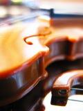 特写镜头小提琴 库存照片