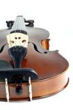 特写镜头小提琴 免版税库存照片