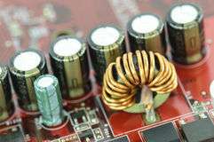 特写镜头微型电路 库存照片