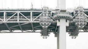 特写镜头日本东京灰色brige,织地不很细细节 库存照片