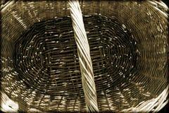 特写镜头杨柳被编织的篮子 免版税库存图片