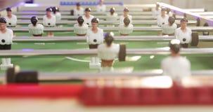 特写镜头桌喷射器足球 股票视频
