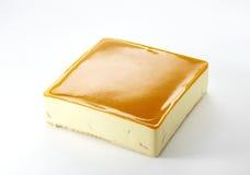 特写镜头橙色奶油甜点蛋糕 免版税库存图片