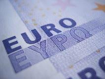 特写镜头欧元符号 免版税库存照片