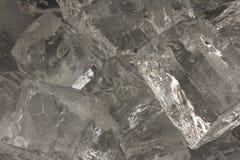 特写镜头求冰的立方 库存照片