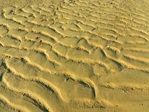 特写镜头沙丘模式红色波纹沙子 免版税图库摄影