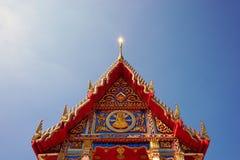 特写镜头泰国佛教寺庙004 免版税库存图片