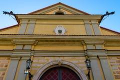特写镜头涅斯维日城堡,白俄罗斯 免版税库存图片