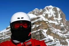 特写镜头滑雪者 免版税库存照片