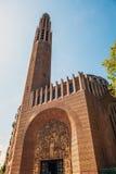 巴黎特写镜头照片的古老教会 图库摄影