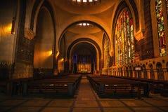 巴黎特写镜头照片的古老教会 免版税库存照片