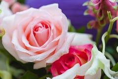 特写镜头玫瑰花束 免版税图库摄影
