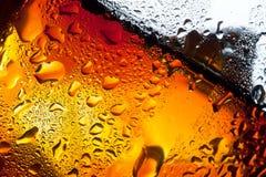特写镜头玻璃misted威士忌酒 库存照片