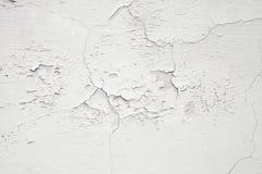 特写镜头白色混凝土墙纹理 库存照片