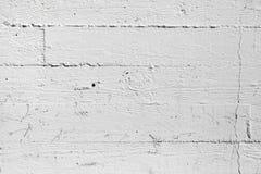 特写镜头白色被绘的混凝土墙纹理 库存照片
