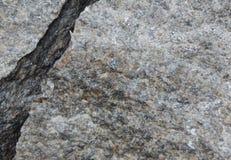 特写镜头石头照片钻井与裂痕的 免版税库存图片