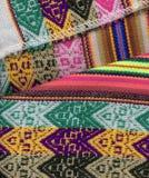 特写镜头秘鲁人textil 库存图片