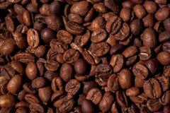 特写镜头纹理咖啡豆 免版税库存照片