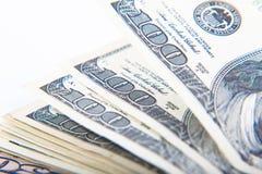 特写镜头100美元钞票 免版税库存照片