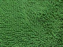 特写镜头绿色清洁擦鞋垫或地毯或者旧布纹理 库存图片