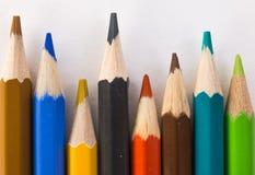 特写镜头色的铅笔 免版税图库摄影