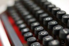 特写镜头/细节从葡萄酒打字机 库存照片