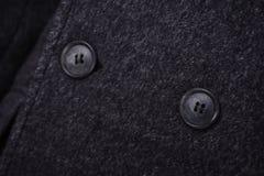 特写镜头衣领人` s夹克 免版税库存图片