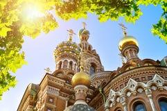 特写镜头观点的我们的Spilled血液大教堂的,圣彼德堡,俄罗斯救主 库存照片