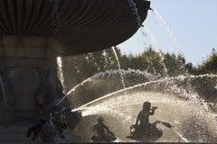 特写镜头观点的Fontaine de la Rotonde 免版税库存图片