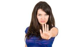 特写镜头画象美好女孩摆在 免版税库存图片