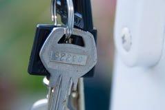 特写镜头钥匙串 库存照片